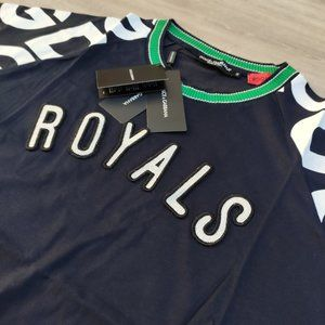 Dolce & Gabbana Royals Navy Blue T-Shirt